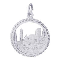 Rembrandt Boston Skyline Charm, Sterling Silver