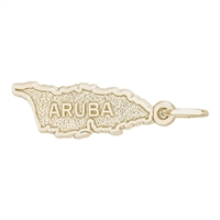 Rembrandt Aruba Charm, Gold Plated Silver