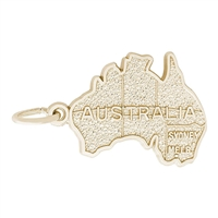 Rembrandt Australia Charm, Gold Plated Silver