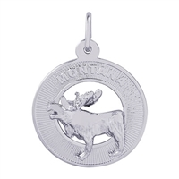 Rembrandt Montana Moose Charm, Sterling Silver