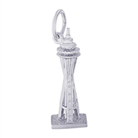 Rembrandt Seattle Space Needle Charm, Sterling Silver