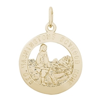 Rembrandt George Washington Home Charm, Gold Plated Silver