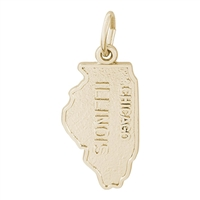 Rembrandt Illinois Charm, Gold Plated Silver