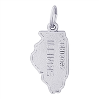 Rembrandt Illinois Charm, 14K White Gold
