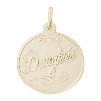 Rembrandt Daughter Charm, Gold Plated Silver