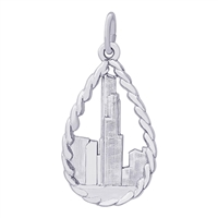 Rembrandt Sears Tower Charm, Sterling Silver