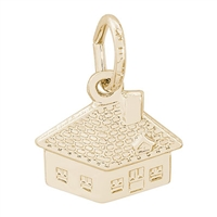 Rembrandt House Charm, Gold Plated Silver