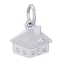 Rembrandt House Charm, 14K White Gold