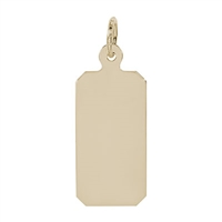 Rembrandt Dog Tag Charm, Gold Plated Silver