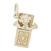 Rembrandt Jack In The Box Charm, Gold Plated Silver