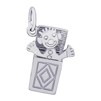 Rembrandt Jack In The Box Charm, Sterling Silver