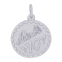 Rembrandt Adorable 10 Charm, Sterling Silver