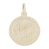 Rembrandt Happy 11 Charm, Gold Plated Silver
