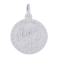 Rembrandt Happy 11 Charm, Sterling Silver