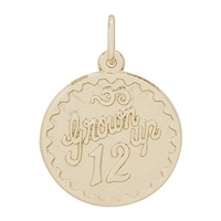 Rembrandt Grown Up 12 Charm, Gold Plated Silver