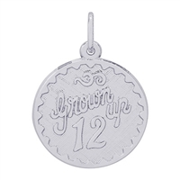 Rembrandt Grown Up 12 Charm, Sterling Silver