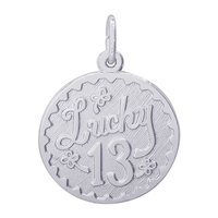 Rembrandt Lucky 13 Charm, Sterling Silver