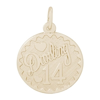 Rembrandt Darling 14 Charm, Gold Plated Silver