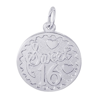Rembrandt Sweet 16 Charm, Sterling Silver