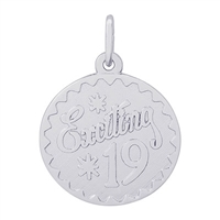 Rembrandt Exciting 19 Charm, Sterling Silver
