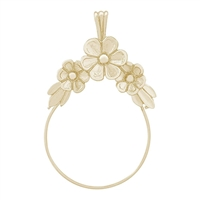 Rembrandt Flower Design Charm Holder, Gold Plated Silver