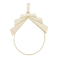 Rembrandt Ribbon Design Charm Holder, Gold Plated Silver