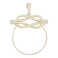 Rembrandt Love Knot Design Charm Holder, Gold Plated Silver