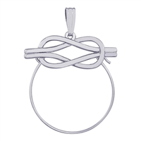 Rembrandt Love Knot Design Charm Holder, Sterling Silver