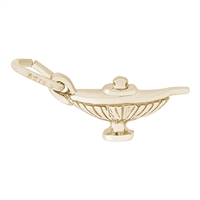 Rembrandt Magic Lamp Charm, Gold Plated Silver