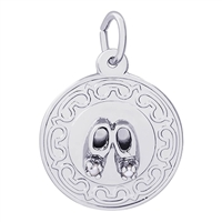 Rembrandt Baby Shoe Charm, Sterling Silver