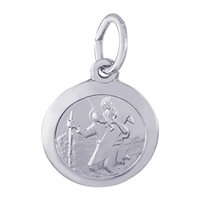 Rembrandt St. Christopher Charm, Sterling Silver