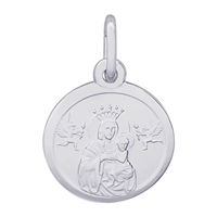 Rembrandt Madonna and Child Charm, Sterling Silver