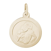 Rembrandt St. Antonio Charm, Gold Plated Silver
