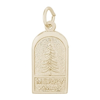 Rembrandt Christmas Charm, Gold Plated Silver