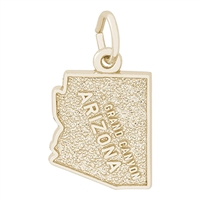 Rembrandt Grand Canyon Charm, Gold Plated Silver