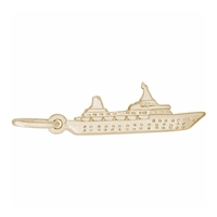 Rembrandt Ship Charm, Gold Plated Silver
