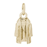 Rembrandt Fur Coat Charm, Gold Plated Silver
