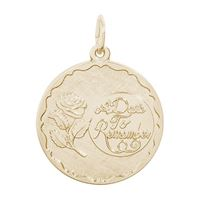 Rembrandt A Date To Remember Charm, Gold Plated Silver