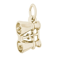Rembrandt Binoculars Charm, Gold Plated Silver