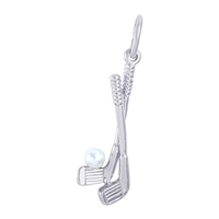 Rembrandt Golf Clubs Charm, Sterling Silver