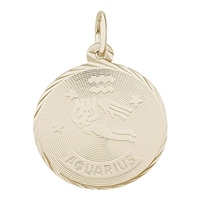 Rembrandt Aquarius Charm, Gold Plated Silver