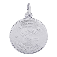 Rembrandt Aquarius Charm, Sterling Silver