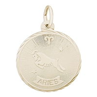 Rembrandt Aries Charm, Gold Plated Silver