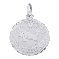 Rembrandt Taurus Charm, Sterling Silver