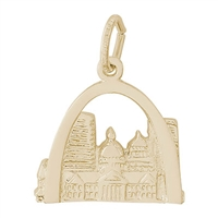 Rembrandt St Louis Charm, Gold Plated Silver