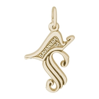 Rembrandt Savannah Charm, Gold Plated Silver