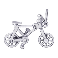 Rembrandt Bicycling Charm, Sterling Silver