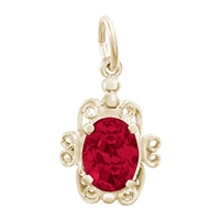 Rembrandt January Birthstone Charm, Gold Plated Silver