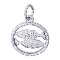 Rembrandt Pisces Charm, Sterling Silver