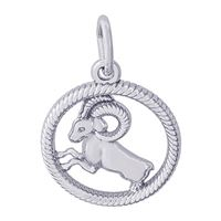Rembrandt Aries Charm, Sterling Silver